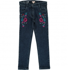 Datrijean Girls Embroidered Jeans