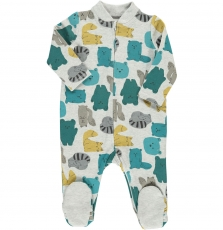 Deagrecos Baby Boys Printed Zipped Sleepsuit