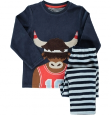 Degopyjani1 Boys Navy Velour Pyjamas