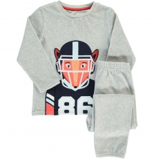 Degopyjani2 Boys Grey Velour Pyjamas