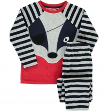 Degopyjpir Boys Striped Velour Pyjamas