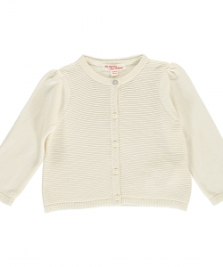 Dijocar1 Baby Girls Cream Cardigan