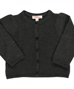 Dijocar8 Baby Girls Charcoal Grey Cardigan