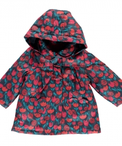 Dirouimp Baby Girls Printed Coat