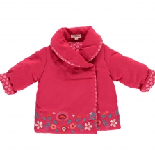 Ditriparka Baby girls Pink Reversible Coat