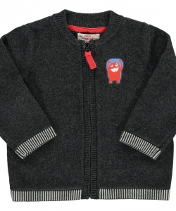 Dujogil1 Baby Boys Dark Grey Cotton Cardigan