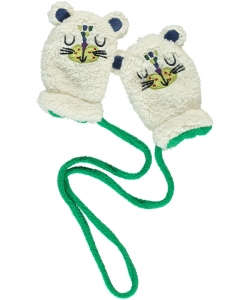 Dyuviogan Baby Boys Cream Mittens