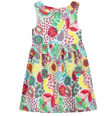 Facarob2 Girls Printed Cotton Dress