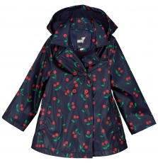 Facoimper2 Girls Printed Hooded Raincoat