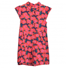 Facorob1 Girls Printed Viscose Dress