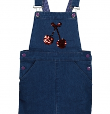 Facorob2 Girls Denim Pinafore dress