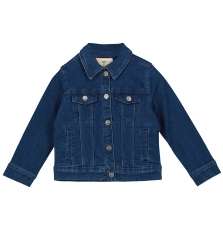 Facovest1 Girls Denim Jacket With Embroidered Back