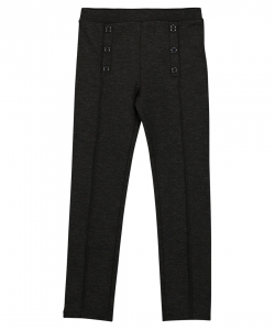 Fajopant1 Girls Charcoal Grey Seamed Trousers