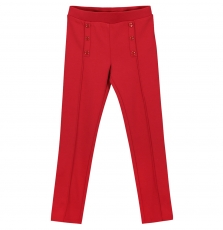 Fajopant3 Girls Red Seamed Trousers