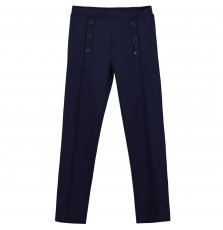 Fajopant4 Girls Navy Seamed Trousers