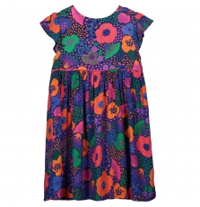 Fajorob1 Girls Printed Cotton Dress