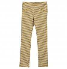 Falipant Girls Stretch Striped Cotton Mix Trousers