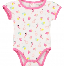 Fefibodal Baby Girls Flamingo Bodysuit