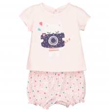 Fefipyjcha Baby Girls T-shirt And Short Set