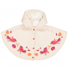 Fibacape Baby Girls Cream Knitted Cape