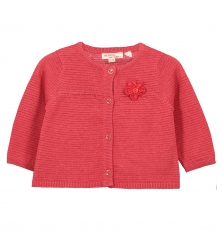 Fibacar1 Baby Girls Raspberry Cardigan With Lurex Detail