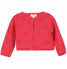 Ficocar3 Baby Girls Red Cotton Cardigan