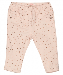 Fijopan1 Baby Girls Stretch Pink Cotton Trouser