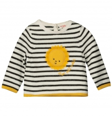 Filipul Baby Girls Striped Cotton Jumper