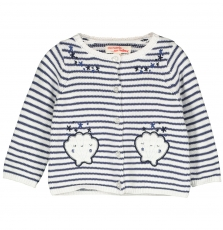 Finecar1 Baby Girls Striped Cotton Cardigan