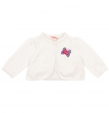 Fitocar Baby Girls White Cotton Cardigan