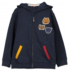 Fobagil Boys Navy Zipped Hooded Cardigan
