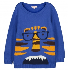 Fobapul Boys Blue Printed Jumper