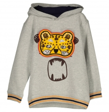 Fobaswe1 Boys Grey Sweatshirt With Masks