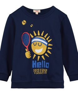 Fojoswe1 Boys Printed Navy Sweatshirt