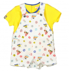 Fucoens Baby Boys T-shirt And Dungaree Set