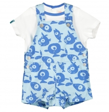 Funeens Baby Boys T-shirt and Dungarees Set