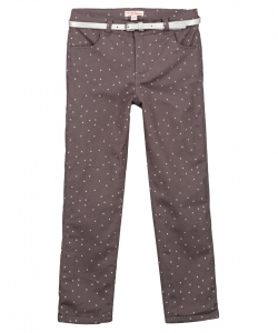 Gablapant2 Girls Lined Grey Stretch Trousers With Belt