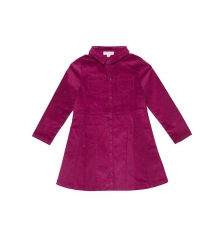 Gabrurob3 Girls Aubergine Corduroy Dress