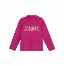 Gabrusoup Girls Printed Aubergine Polo Neck