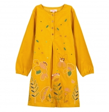 Gajaurob1 Girls Corn Corduroy Dress