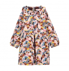 Gajaurob2 Girls Printed Cotton Dress