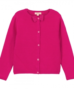 Gajocar2 Girls Fuchsia Cotton Mix Cardigan