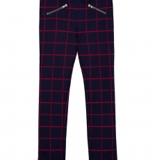 Gajomil1 Girls Checked Strech Cotton Trousers