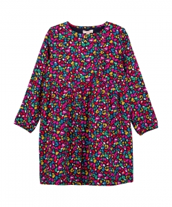 Gamurob2 Girls Printed Twill Dress