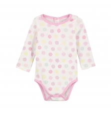 Gefibodpoi Baby Girls Spotted Bodysuit