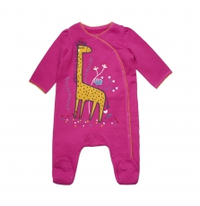 "Gefigregir2 Baby Girls Fleece ""giraffe"" Sleepsuit"