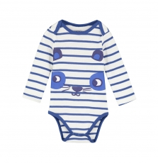 Gegabodray Baby Boys Striped Cotton Bodysuit
