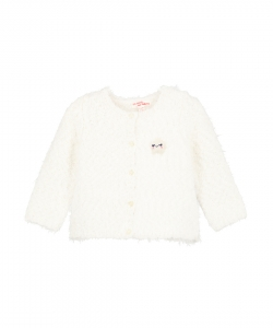 Giblacar Baby Girls Cream Fancy Knit Cardigan