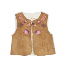 Gibrucar1 Baby Girls Sheepskin Gilet