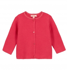 Gijocar4 Baby Girls Fuchsia Cotton Cardigan